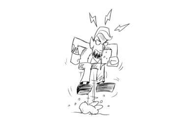 man, angry, drawing